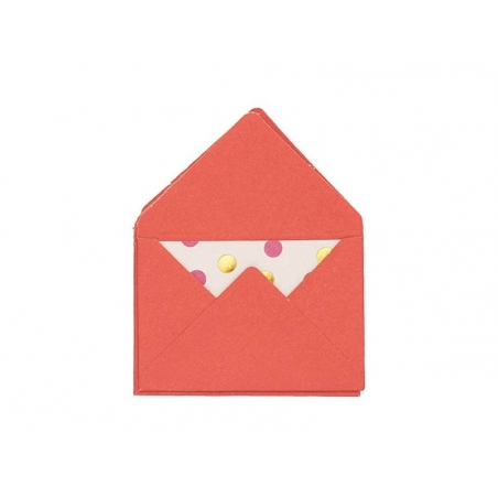 10 mini envelopes and cards - red