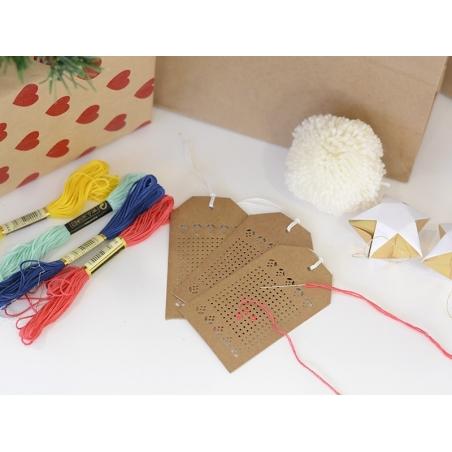 Acheter 24 étiquettes à broder - kraft - 7,00€ en ligne sur La Petite Epicerie - Loisirs créatifs
