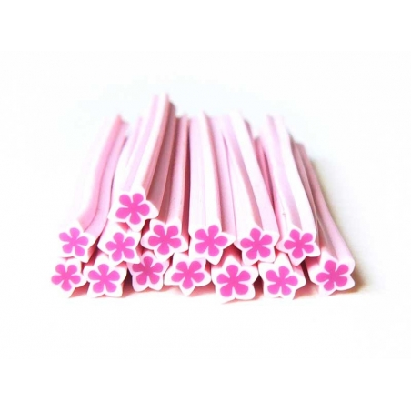 Star cane - pink and flower-shaped