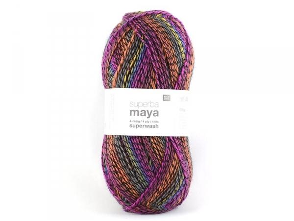 """Knitting wool - """"Superba Maya"""" - fuchsia mix"""