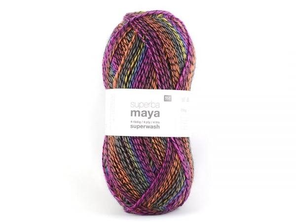 "Laine à tricoter ""Superba Maya"" - Fuchsia mix"