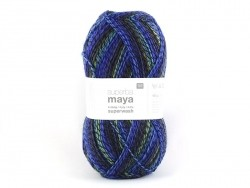 "Knitting wool - ""Superba Maya"" - lilac mix"