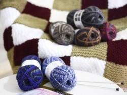 "Laine à tricoter ""Superba Maya"" - lilas mix"