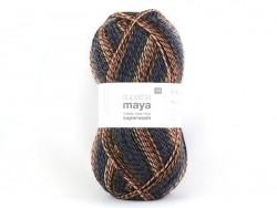 "Knitting wool - ""Superba Maya"" - orange mix"