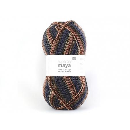 "Laine à tricoter ""Superba Maya"" - orange mix"