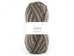 "Knitting wool - ""Superba Maya"" - brown"