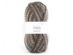 "Laine à tricoter ""Superba Maya"" - brun"