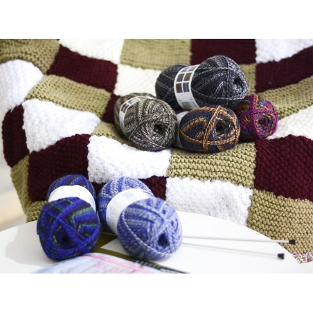 """Knitting wool - """"Superba Maya"""" - brown"""