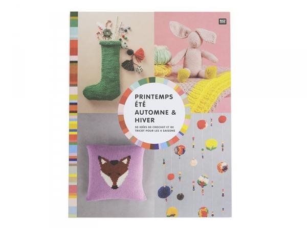 """French book """" """"Printemps, été, automne & hiver - 50 idées de crochet et de tricot pour les 4 saisons"""""""