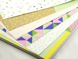 Bloc de papier à motif - géométrique