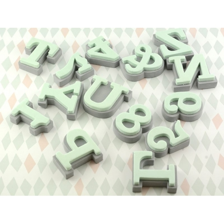 Foam rubber stamps - Letters (Clarendon)