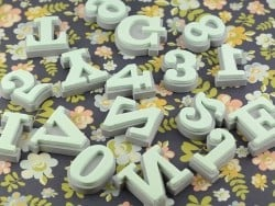 Foam rubber stamps - Letters (Helvetica)