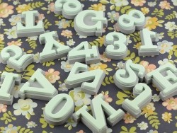 Tampons en mousse - alphabet Clarendon