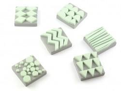 Tampons en mousse - géométrique