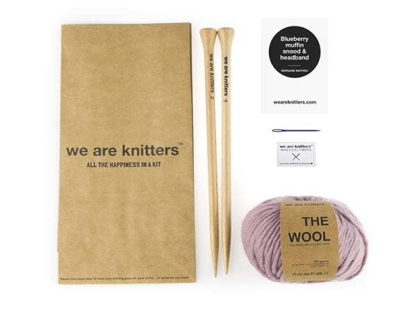 Kit de tricot débutant - Snood et headband We are knitters - 1