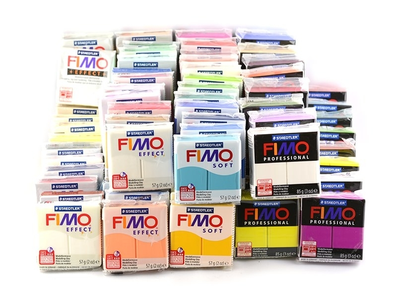 Pack 90 pains Fimo Pro + Soft + Effect Fimo - 1