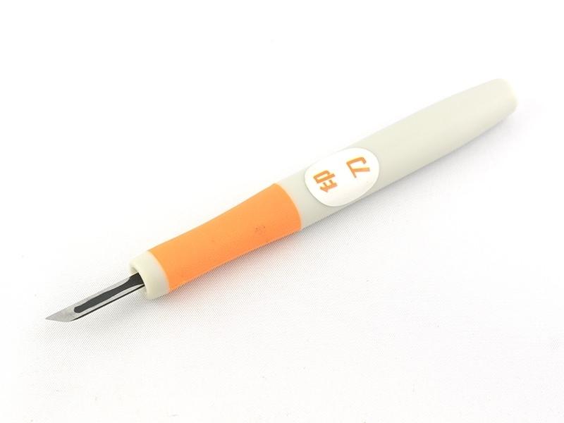 Gouge à graver pour tampons - orange  - 1