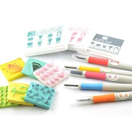 Acheter Gouge à graver pour tampons - rose - 5,60€ en ligne sur La Petite Epicerie - Loisirs créatifs