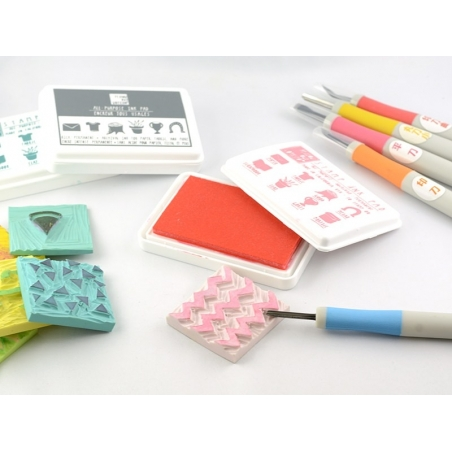 Acheter Gouge à graver pour tampons - rouge - 5,60€ en ligne sur La Petite Epicerie - Loisirs créatifs