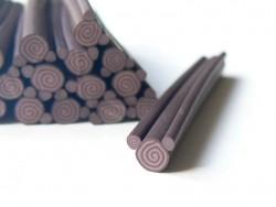 Swiss roll cane - chocolate