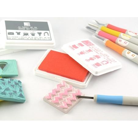 Acheter Gouge à graver pour tampons - bleu - 5,60€ en ligne sur La Petite Epicerie - 100% Loisirs créatifs