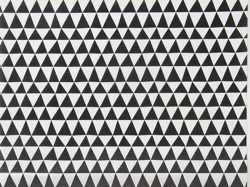 Paper Patch - triangles noirs