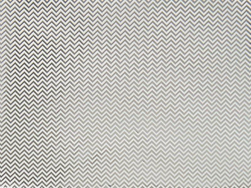 Paper Patch - chevrons argentés