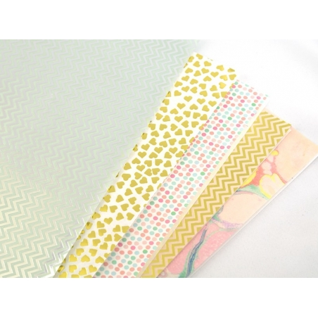 Paper patch - marbled