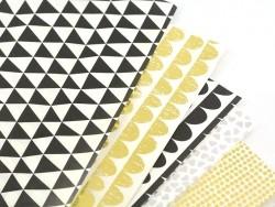 Paper patch - black festoons