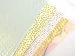 Paper patch - golden zigzag pattern