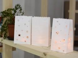 5 sachets de papier photophore - coeurs