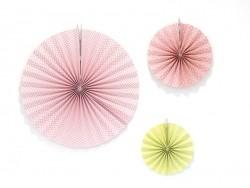 3 paper rosettes - summer