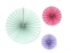 3 paper rosettes - pastel