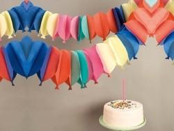 Guirlande papier - ballons multicolores