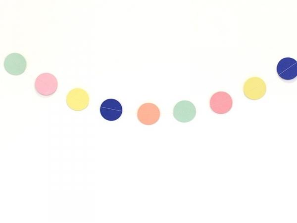 Guirlande papier - ronds multicolores Rico Design - 1
