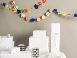 Guirlande papier - ronds multicolores