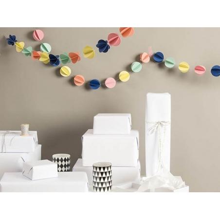Guirlande papier - ronds multicolores Rico Design - 2
