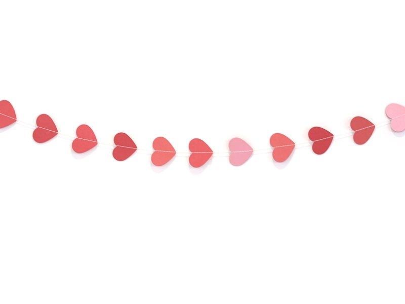 Paper garland - hearts