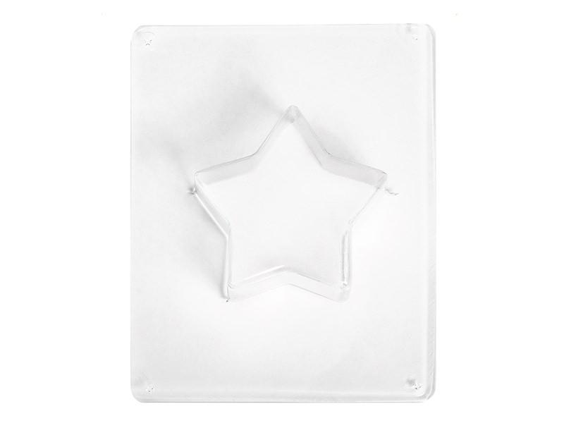Star-shaped plastic mould (11 cm)