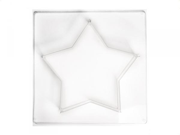 Moule étoile 21,5 cm en plastique