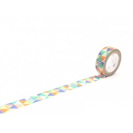 Patterned masking tape - Shimasankaku blue Masking Tape - 1