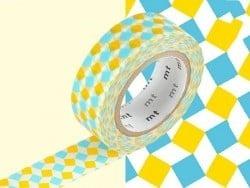 Masking Tape motif - carrés bleu et jaune Masking Tape - 2