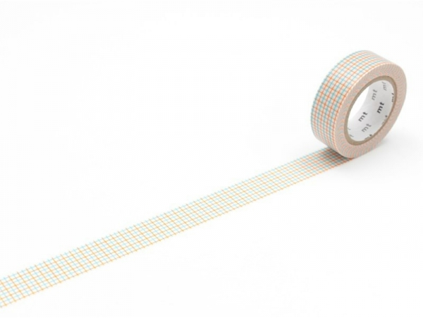 Patterned masking tape - Hougan aqua x mikan Masking Tape - 1