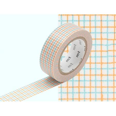 Patterned masking tape - Hougan aqua x mikan Masking Tape - 2