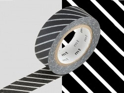 Masking Tape motif - noir à rayures