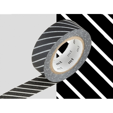 Patterned masking tape - black with stripes Masking Tape - 2