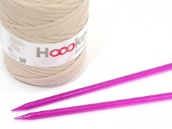 Plastic knitting needles - 10 mm