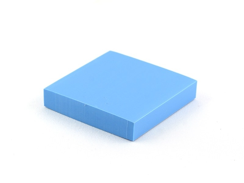 Rubber carving block for the creation of stamps - blue
