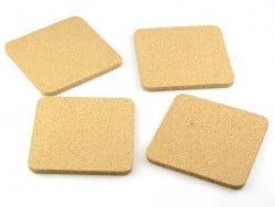 4 customisable cork squares