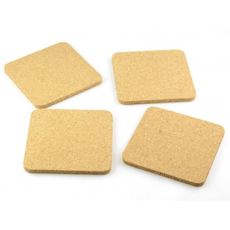 4 customisable cork squares